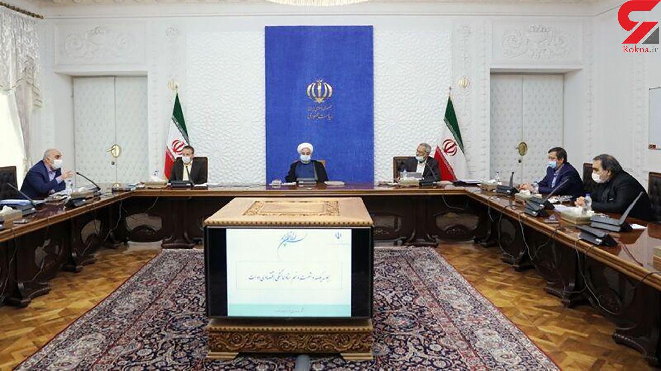 روحانی : با یک دست با تحریم و با دست دیگر با کرونا مقابله میکنیم