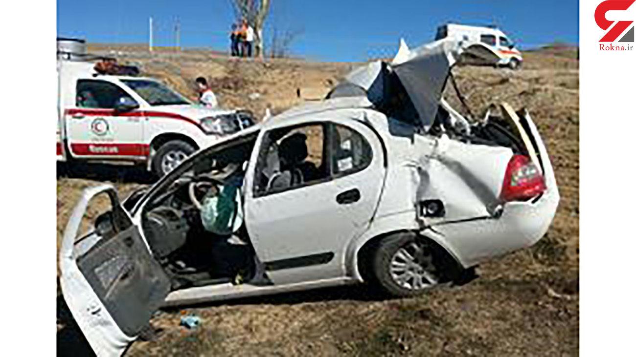 تصادف مرگبار تیبا با تاکسی در تهران