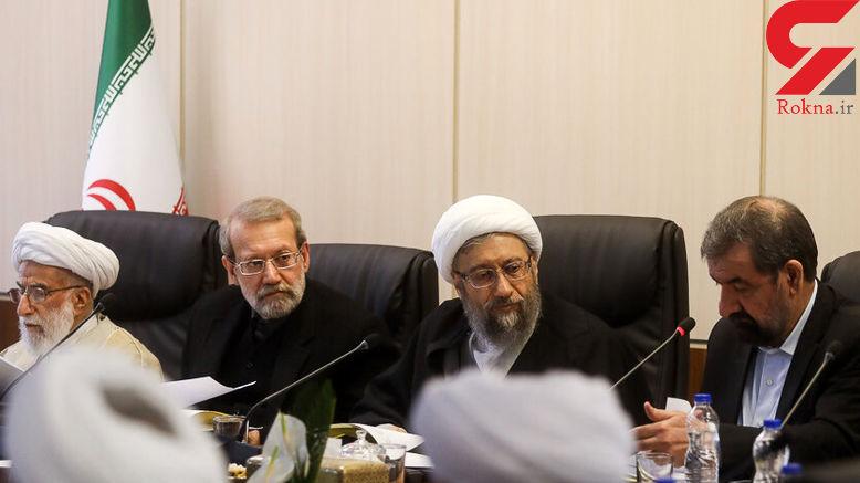 غیبت احمدی نژاد و روحانی در اولین جلسه مجمع تشخیص به ریاست آملی لاریجانی +عکس