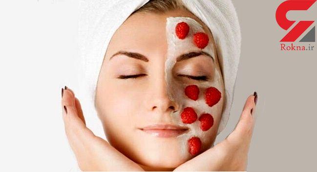 پوستی شفاف و آیینه ای با ماسک توت فرنگی