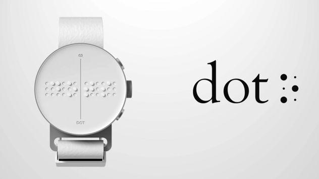 ساعت هوشمند  با خط بریل  + فیلم
