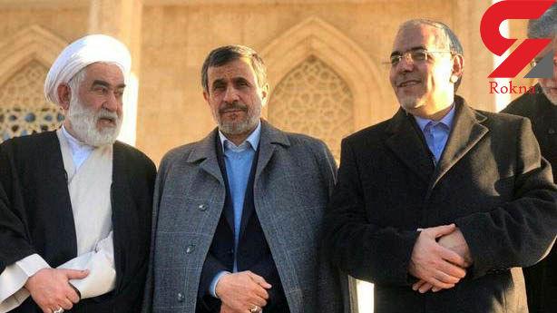 عکس/ تیپ عجیب احمدی نژاد در حرم امام خمینی (ره)