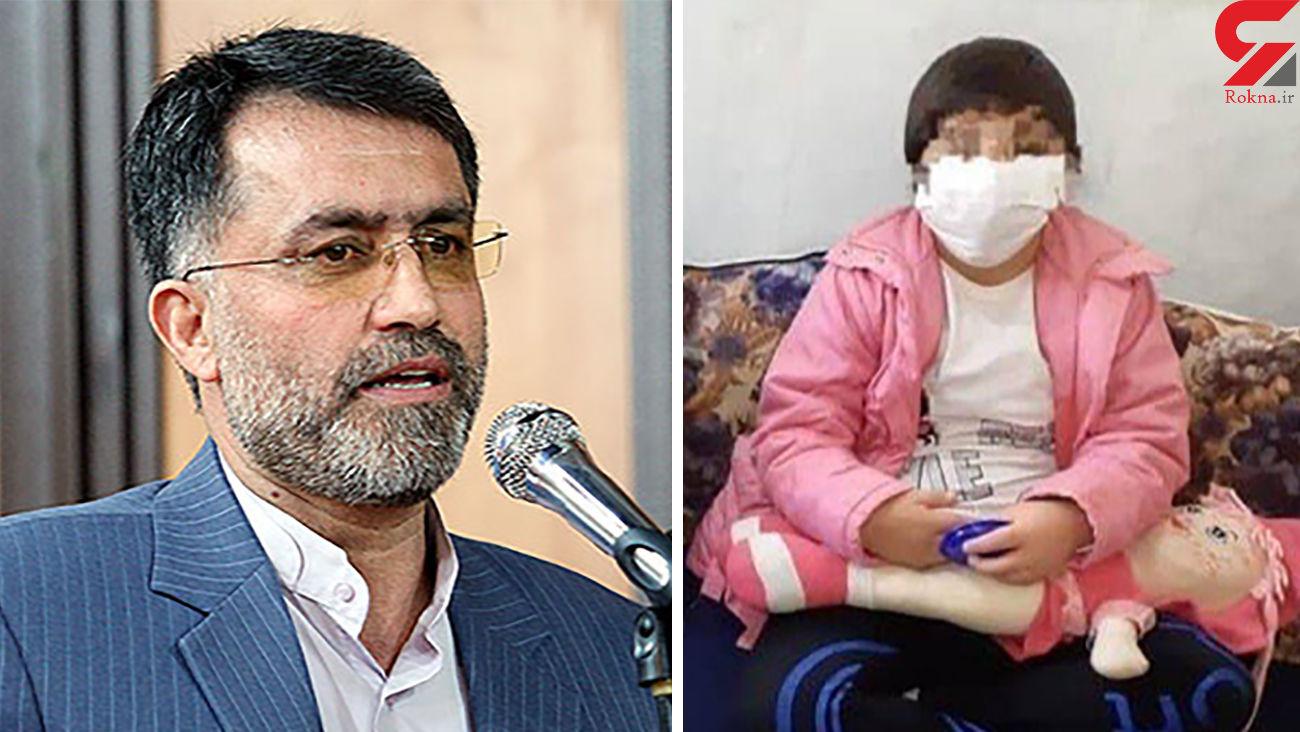 جزئیات بازداشت ناپدری تاکستانی به خاطر شکنجه دختر بی نوا + فیلم و عکس