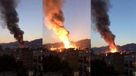 تصاویر مردم محبوس میان شعله های آتش /  انفجار در شمال تهران  + فیلم