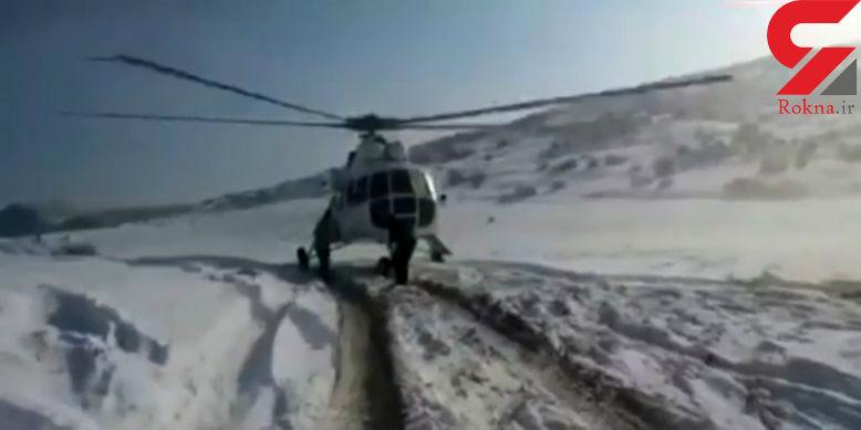 اعزام 6 بالگرد به 4 استان درگیر برف