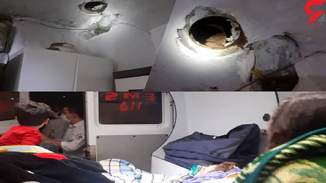 مسمومیت شدید خانواده ۴ نفره باقرشهری به دلیل نشت گاز + عکس
