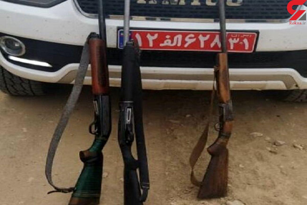 کشف 3 قبضه اسلحه شکاری در الیگودرز قبل از اقدام به شکار