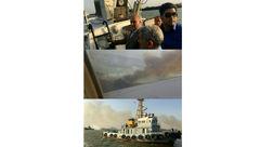 آتشسوزی گسترده در منطقه مرزی خرمشهر +عکس