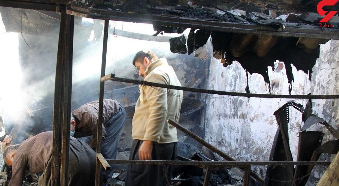 جزئیات آتش سوزی در حرم حضرت عبدالعظیم + عکس
