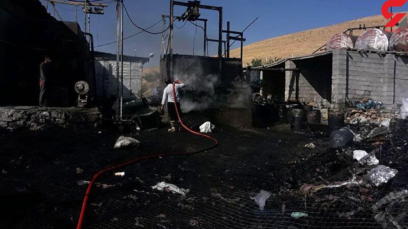 آتش کارخانه تولید ایزوگام بیجار را سوزاند