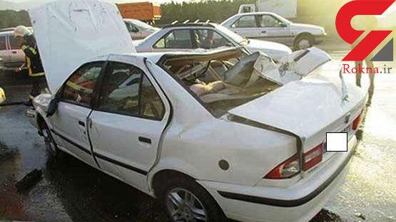 """تصادف 3 خودرو با 2 کشته و مجروح در""""کازرون"""""""