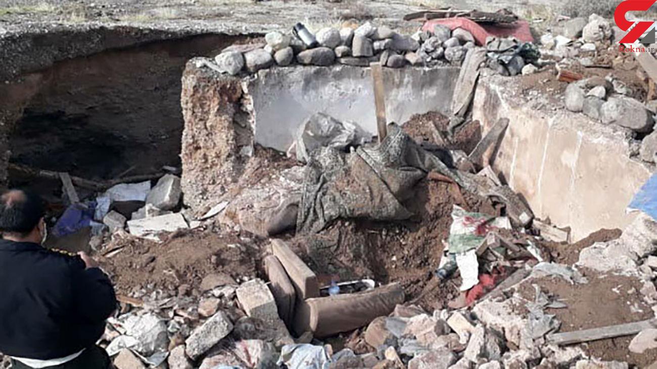 مرد ایوانکی زیر آوار خانه خودساخته دفن شد / کشف جنازه در حاشیه شهر + عکس