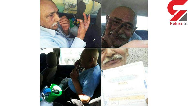 این مرد با کپسول اکسیژن برای رای دادن آمد+ عکس