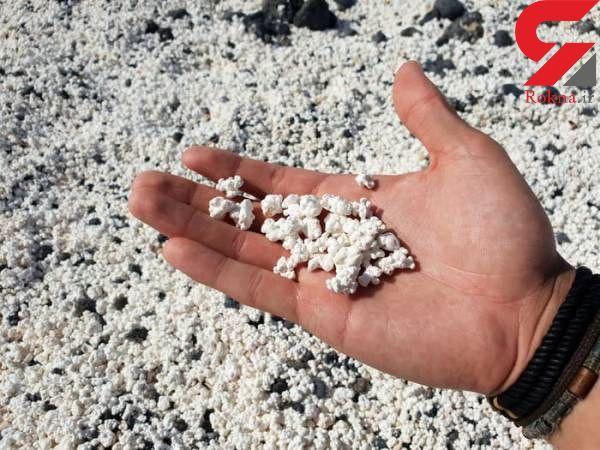 هیجان انگیز ترین جزیره پاپ کورن/ماسه هایی به شکل پاپ کورن خوراکی+ عکس