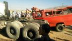 مرگ دردناک 2 معلم روستا در تصادف مینی بوس معلمان و کامیون در اراک+تصاویر