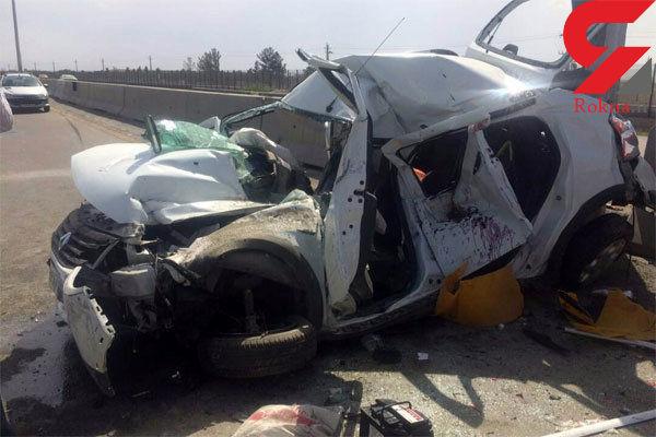 واژگونی خودرو در ساوه با 5 مصدوم