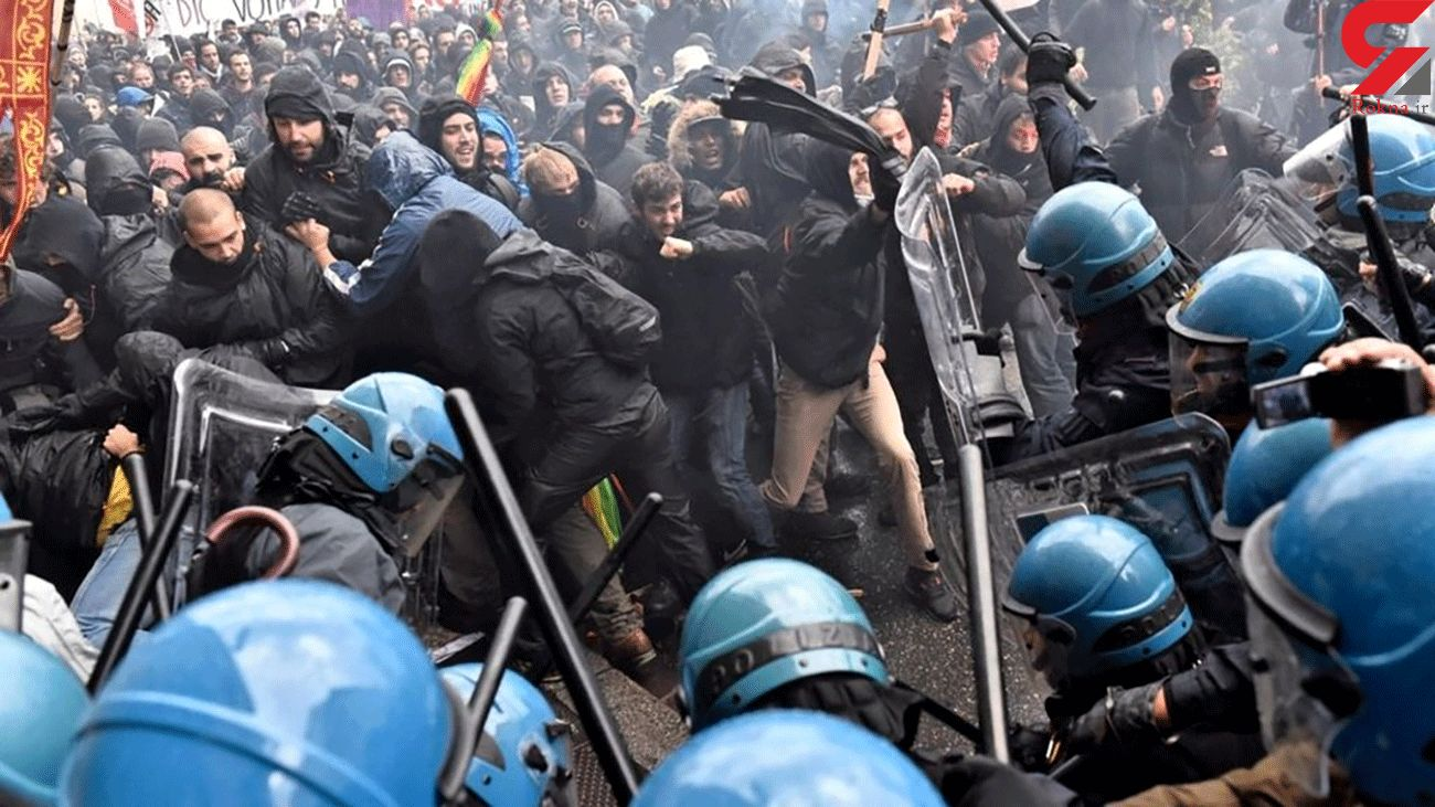Protesters Clash with Italian Police in Florence over Virus Lockdown Measures