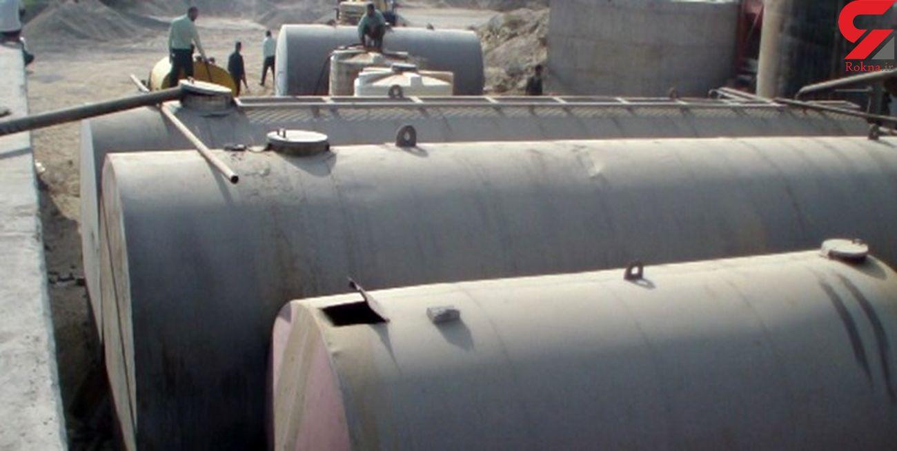 کشف 31 هزار لیتر سوخت قاچاق از کارگاه متروکه در مرند