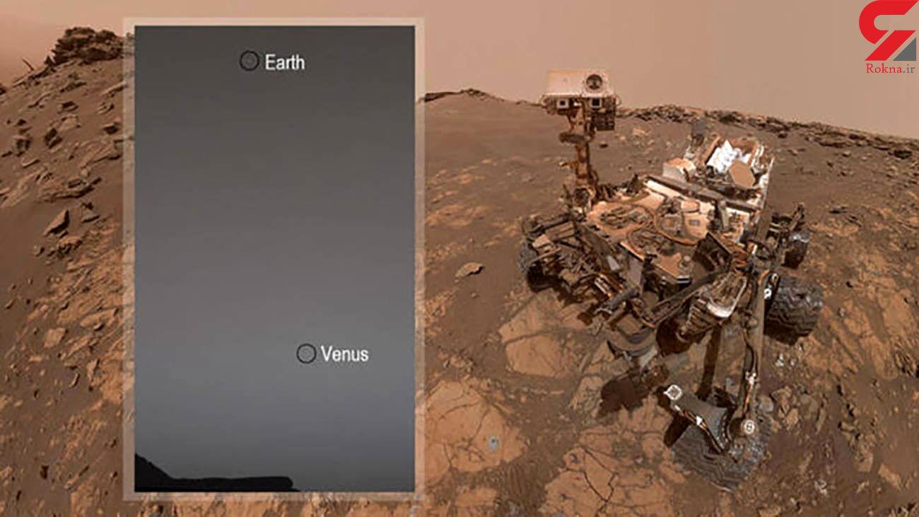 تصویر جالب از زهره و زمین از مریخ