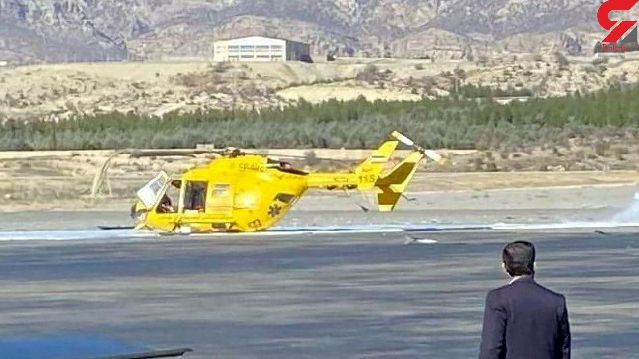 اولین عکس از سقوط هلیکوپتر در ایلام