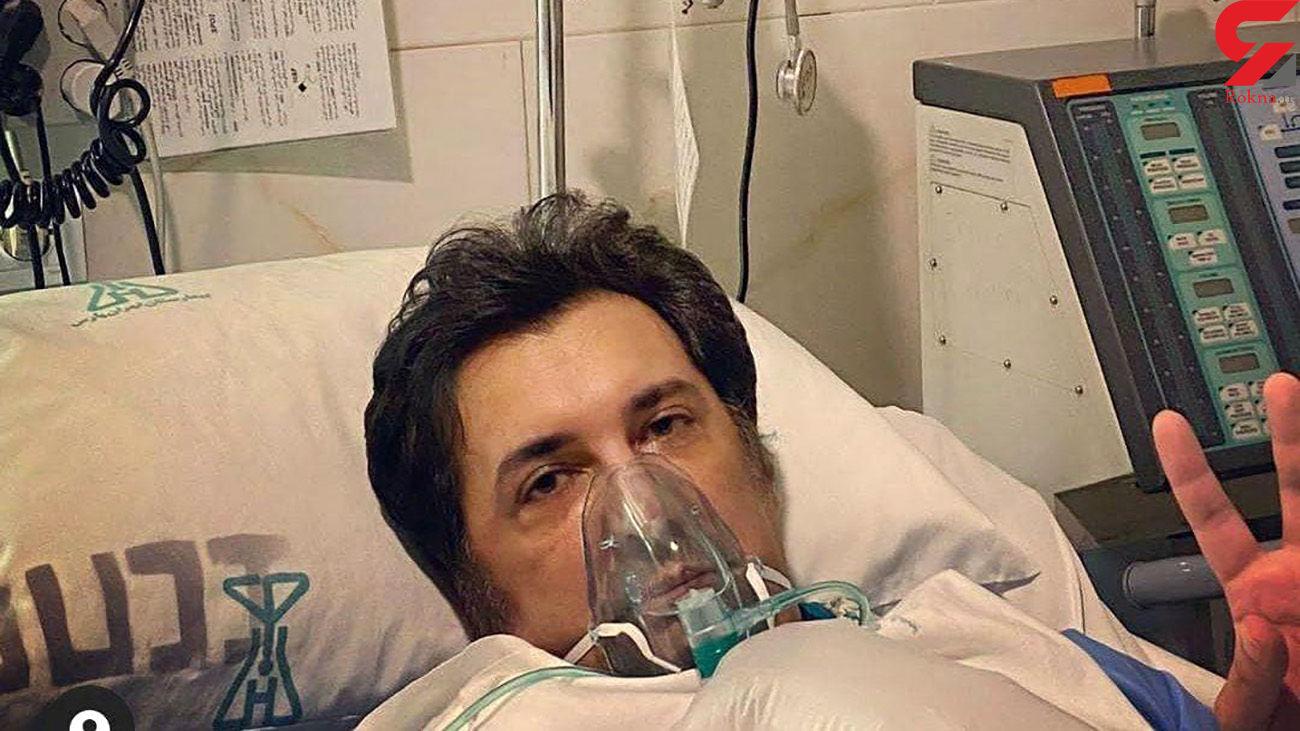 عکس بازیگر سرشناس مرد ایرانی در آی سی یو بیمارستان / او کرونا گرفت