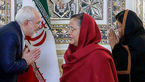 شیوه جالب سلام و احترام ظریف در مقابل خانم دیپلمات هندی + عکس