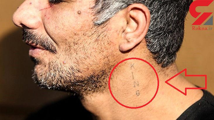 خالکوبی عجیب دزد پلید در پایتخت/ این مرد لقبش را روی گردنش حک کرده است؟