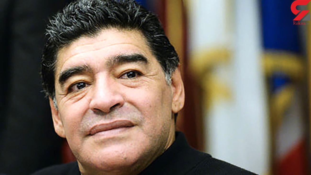 فیلم لحظه احترام مارادونا به مردم ایران / برای اولین با منتشر شد