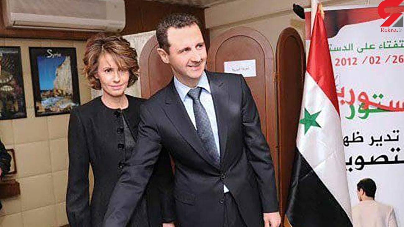 بشار اسد و همسرش کرونا گرفتند + عکس