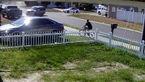 لحظه تصادف یک ماشین شاسی بلند و یک دوچرخه سوار + فیلم