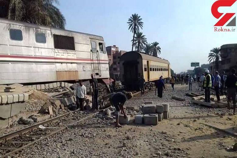 خروج قطار از ریل 55 زخمی برجا گذاشت+ عکس