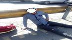 تصادف شاخ به شاخ موتور با پژو در اتوبان امام علی تهران