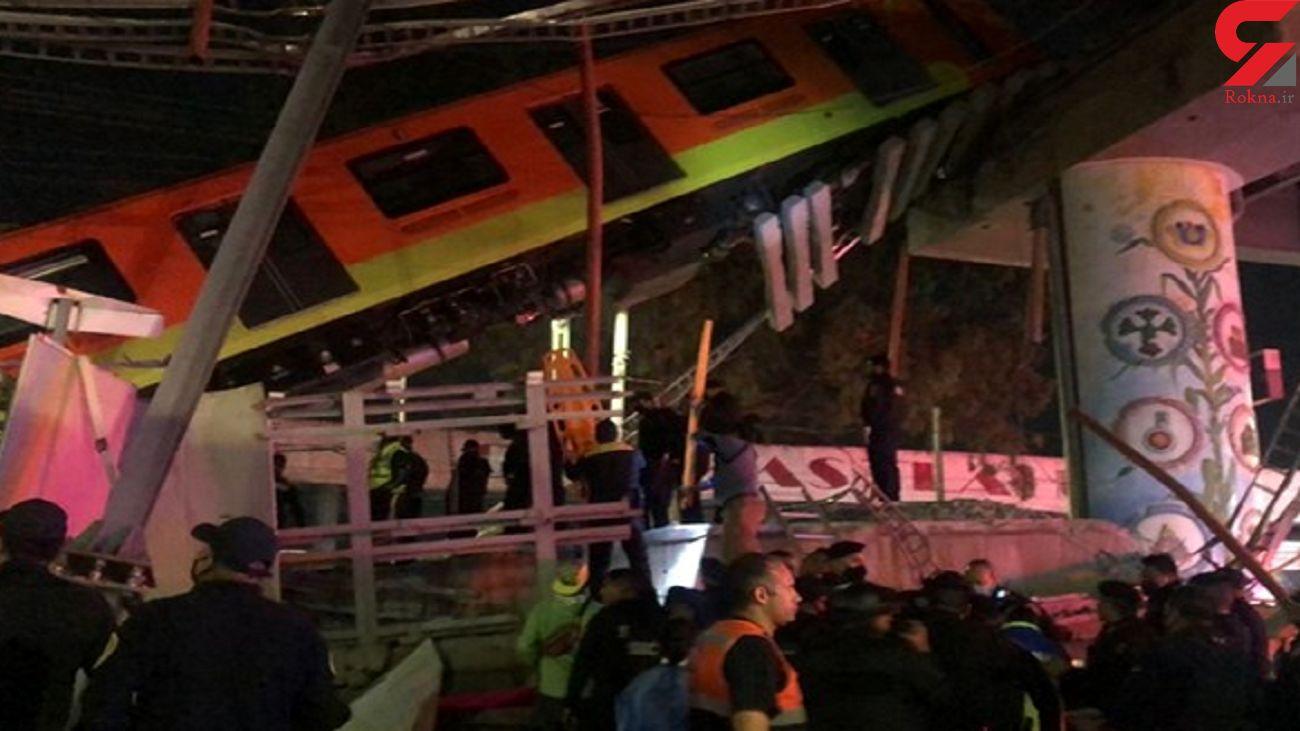 23 کشته بر اثر ریزش پل قطار شهری در مکزیکوسیتی