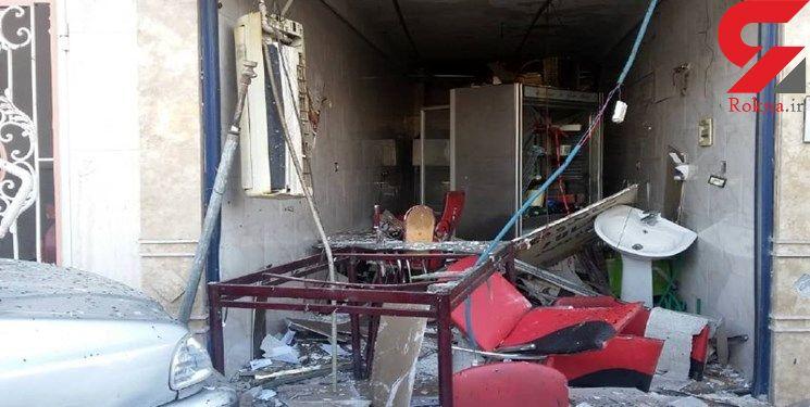 انفجار گاز شهری در مغازه ای در قم / حال 2 تن وخیم است + عکس