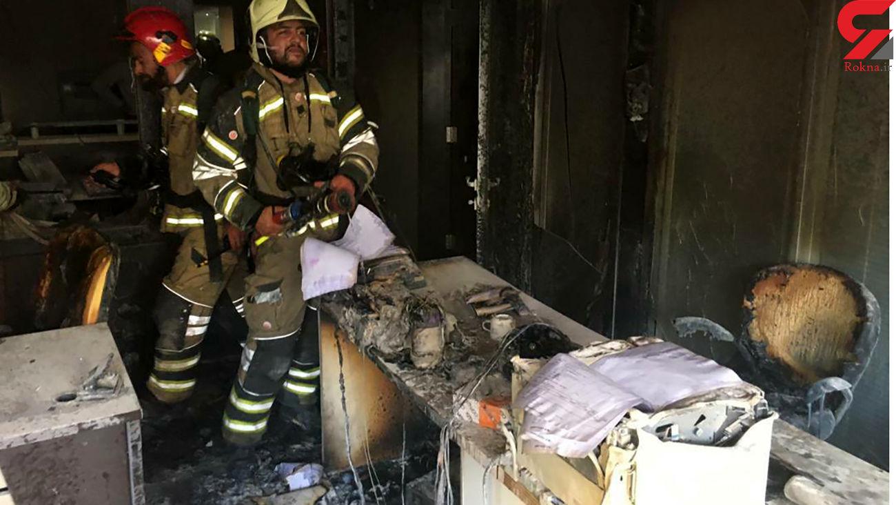 آتش سوزی بزرگ در یک مجتمع در نیاوران / 6 زن و مرد به شدت سوختند+ عکس و فیلم