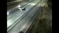 تصادف هواپیما با ماشین در بزرگراهی در آمریکا + فیلم