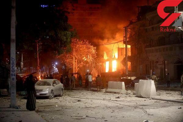 افزایش شمار تلفات حمله انتحاری در سومالی به ۱۵ کشته و زخمی+عکس