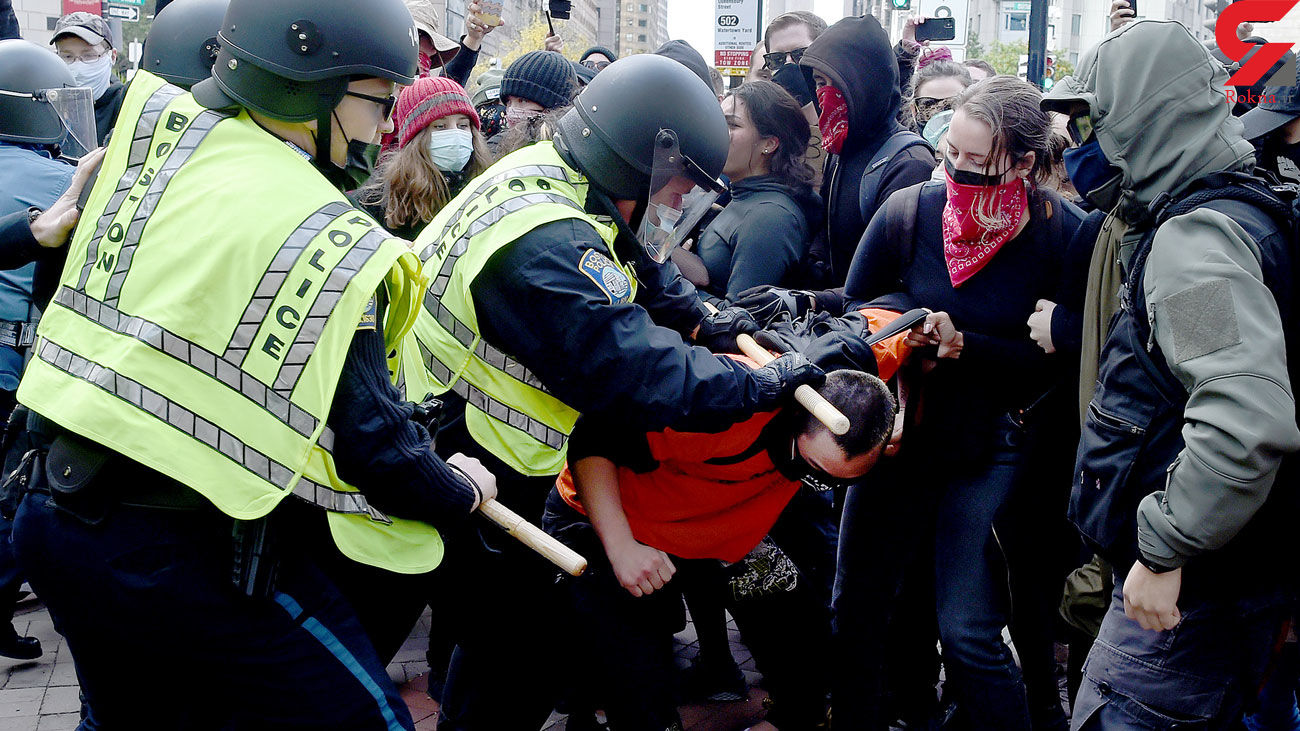 Trump supporters, counter-protesters engage in violent clash
