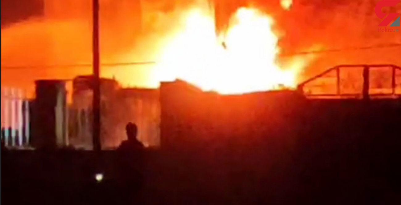 انفجار و آتش سوزی در شهرک صنعتی شماره۲ اردبیل  با ۲ نفر فوتی