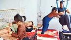 پرستار ۶ ساله پدر کمتوان جسمی