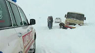 اسکان 15 مسافر گرفتار در برف  مهاباد_سردشت