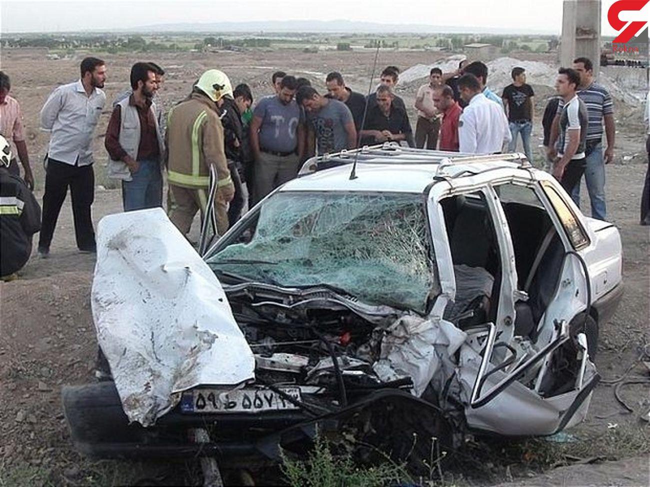سقوط پراید حادثه آفرید / 2 اصفهانی مصدوم شدند