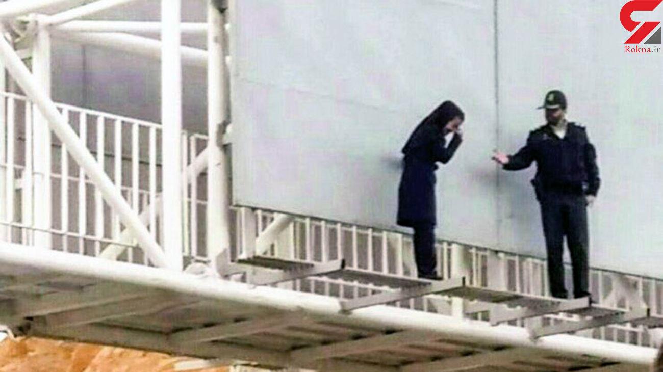 خودکشی دختر جوان در ورامین + عکس لحظه خودکشی