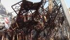 وضعیت بد روحی آتش نشانان در پلاسکو / آتش نشانان از محل دور می شوند و دوباره می آیند