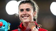 این زن با لباس خاص بدن نما در المپیک جنجال کرد + عکس