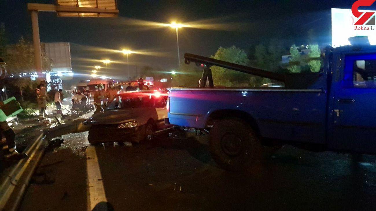 تصادف بامدادی خونین در بزرگراه همت  + عکس