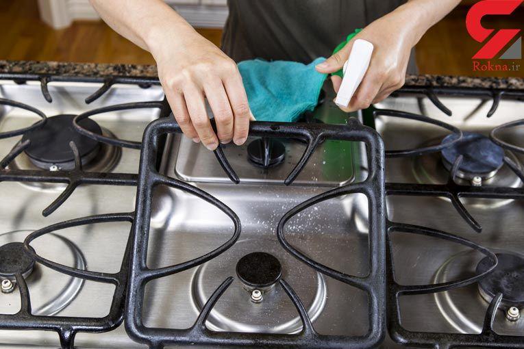 تمیز کردن اجاق گاز بدون نیاز به شوینده ها