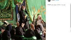 تصویر دیده نشده سحر دولتشاهی در یک مراسم مذهبی