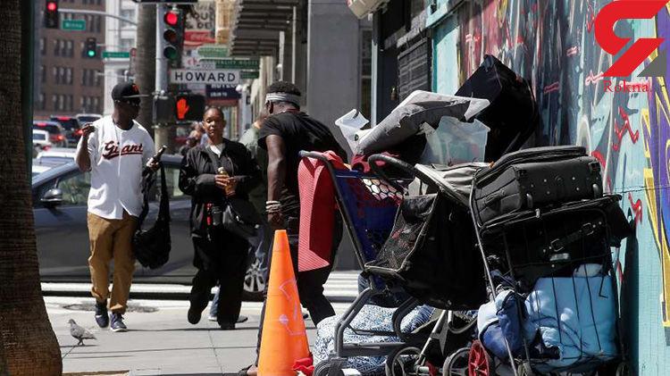 حال و روز دردناک بیخانمان ها در خیابانهای لسآنجلس + فیلم