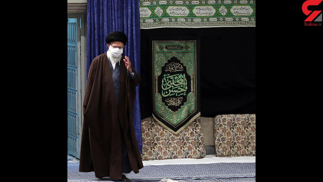 مراسم عزاداری رحلت رسول اکرم (ص) و شهادت امام حسن (ع) با حضور رهبر معظم انقلاب برگزار شد